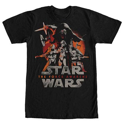 Star Wars Episode 7 New Poster Black T-Shirt