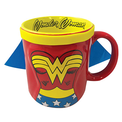 Wonder Woman Ceramic Caped Coffee Mug