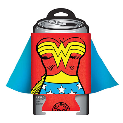 Wonder Woman Caped Costume Can Cooler