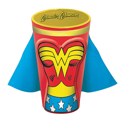 Wonder Woman Caped Costume Pint Glass