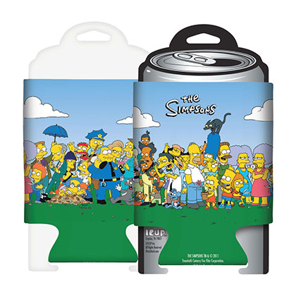 The Simpsons Cartoon Cast Can Cooler