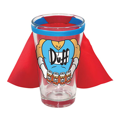 The Simpsons Caped Costume Pint Glass