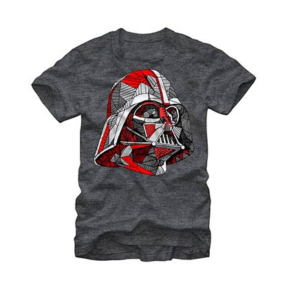 Star Wars Line Vader Gray T-Shirt