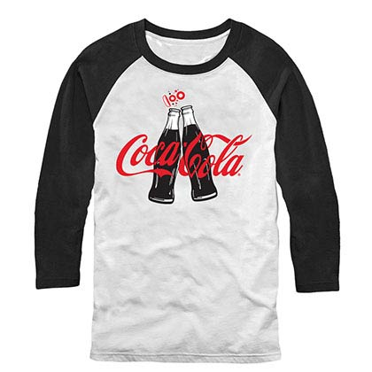 Coca-Cola Coke Clink White Baseball T-Shirt