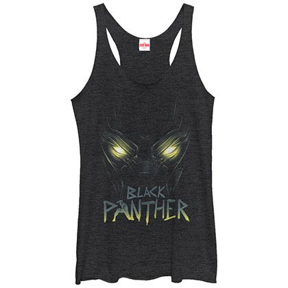 Black Panther Panther Eyes Black Juniors Racerback Tank Top