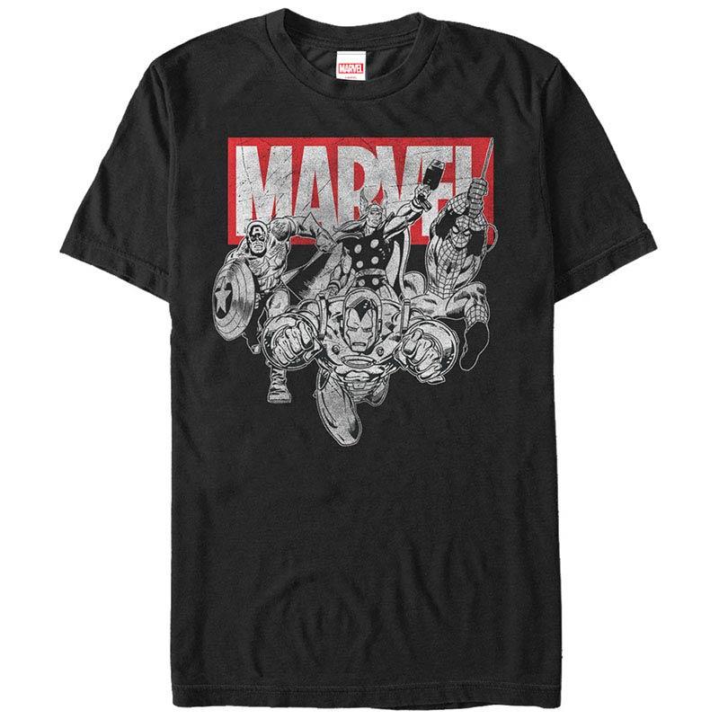 Iron Man Poses Black Mens T-Shirt