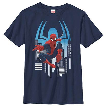 Spiderman Web Slinger Blue Youth T-Shirt