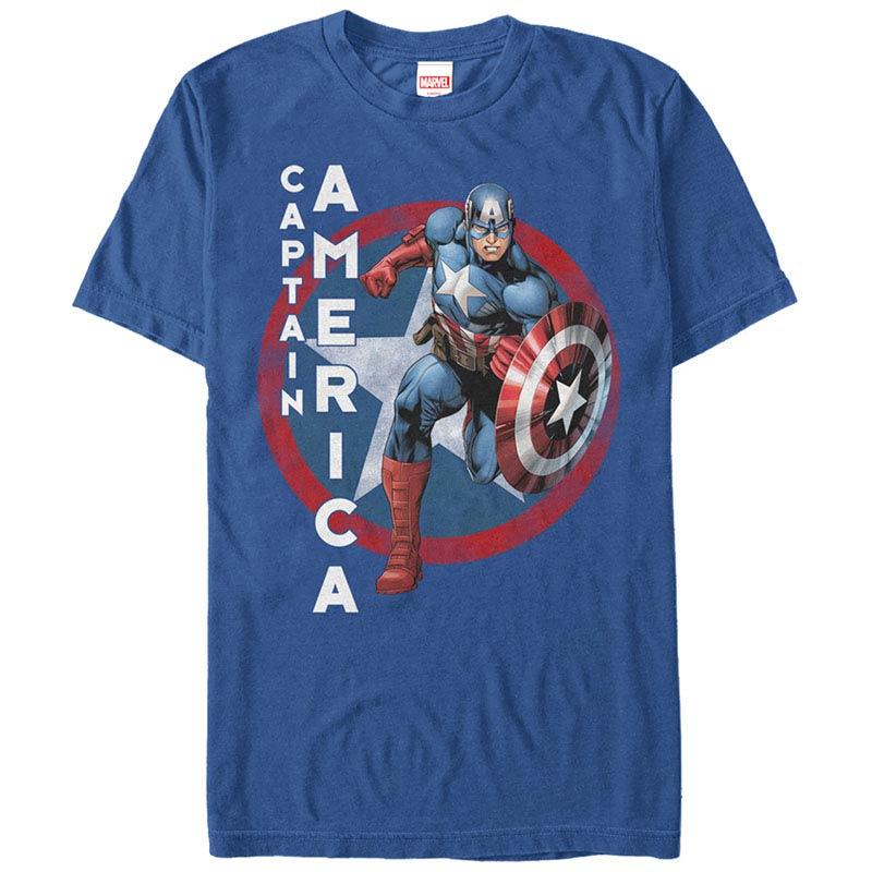 Captain America The Captain Blue Mens T-Shirt