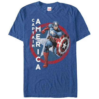 Captain America The Captain Blue Mens T-Shirt