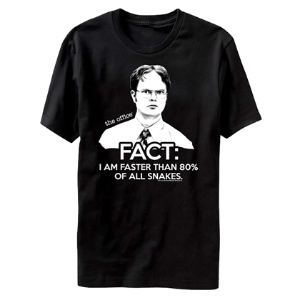 The Office Dwight Faster Than 80% Of Snakes Tshirt