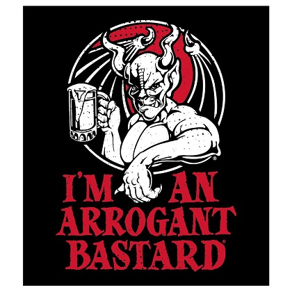 Arrogant Bastard Black I'm An Arrogant Basted Sticker