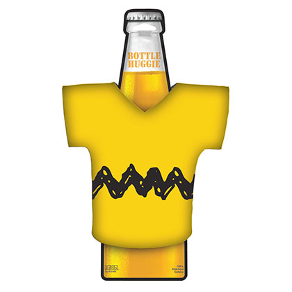 Charlie Brown Yellow T-Shirt Bottle Cooler
