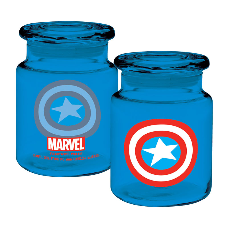 Captain America Blue Apothecary Jar