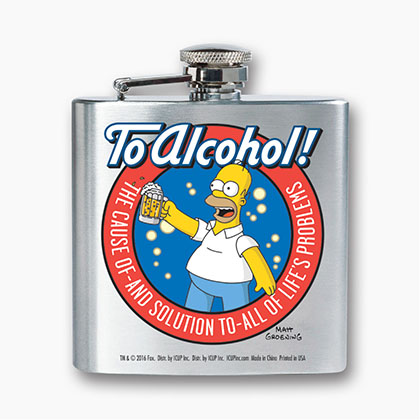 The Simpsons Homer Flask