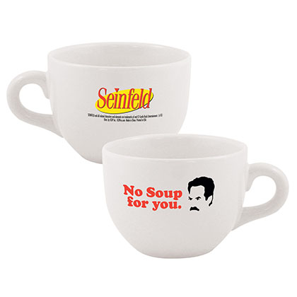 Seinfeld White No Soup For You Coffee Mug