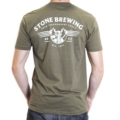 Stone Brewing Co. Men's Army Green Gargoyle T-Shirt