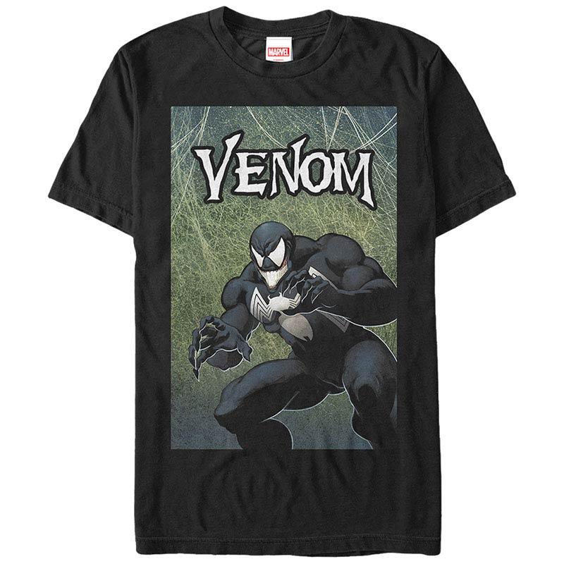 Spiderman Venom Cover Black Mens T-Shirt