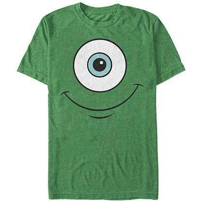 Disney Pixar Monsters Inc University Mikes Eyeball Green T-Shirt