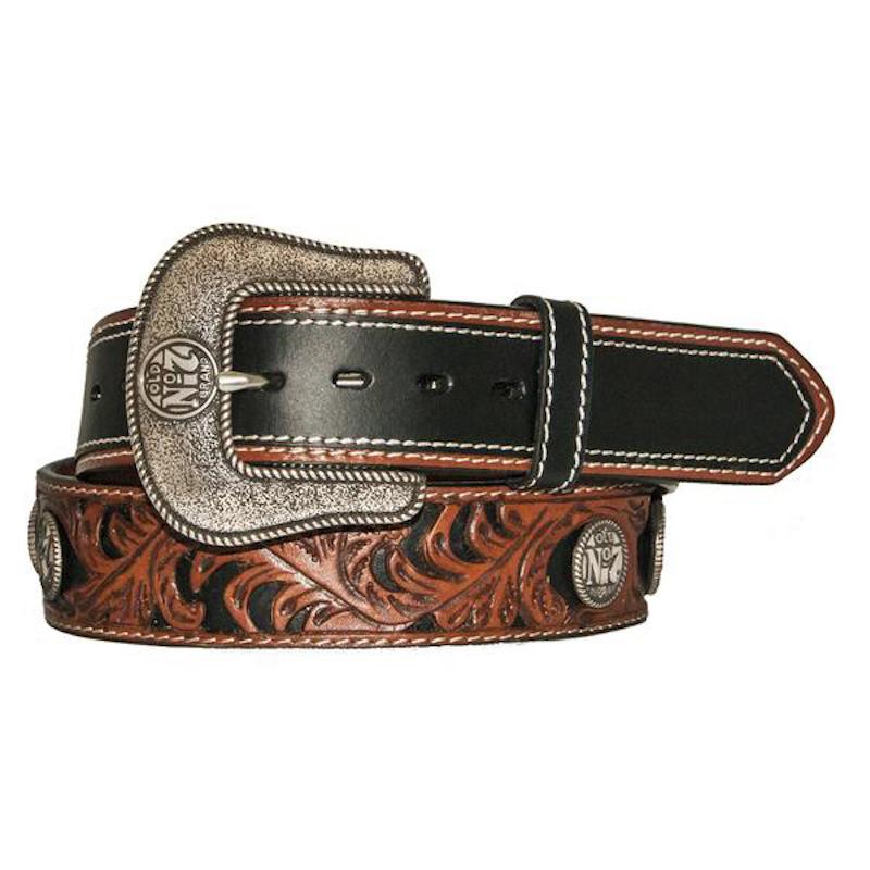 Jack Daniels Two Tone Silver Plated Belt