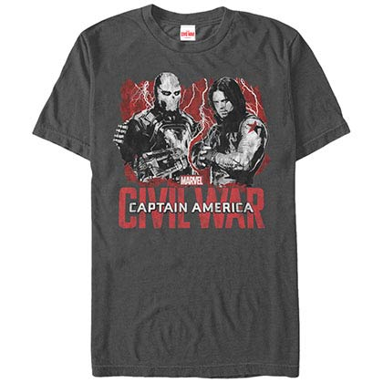 Captain America: Civil War Grudgematch Gray Mens T-Shirt