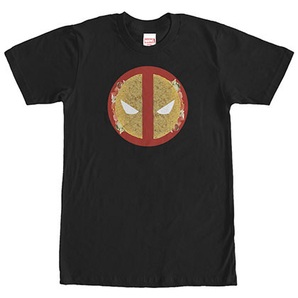 Deadpool Taco Face Black T-Shirt