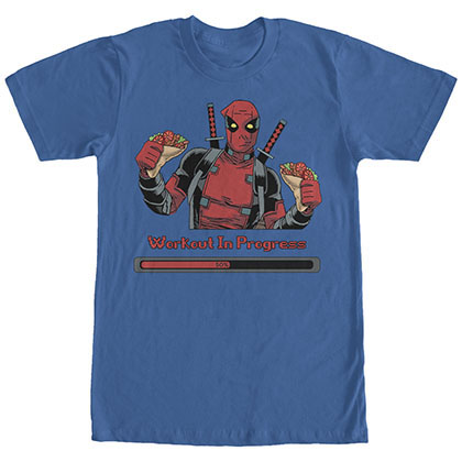 Deadpool Progress Blue T-Shirt