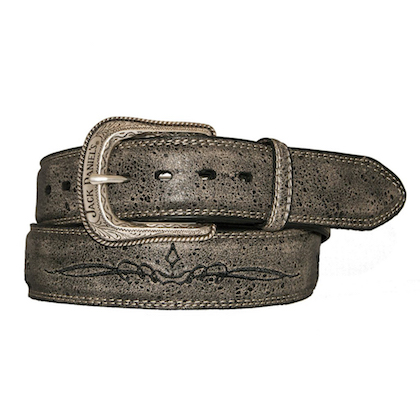 Jack Daniels Vintage Finish Embroidered Belt