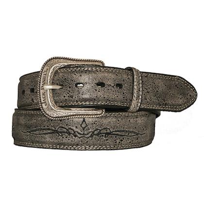 Jack Daniels Vintage Finish Embroidered Belt