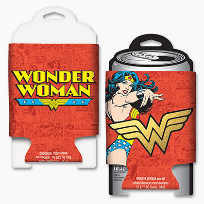 Wonder Woman Red Foil Beer Can Cooler
