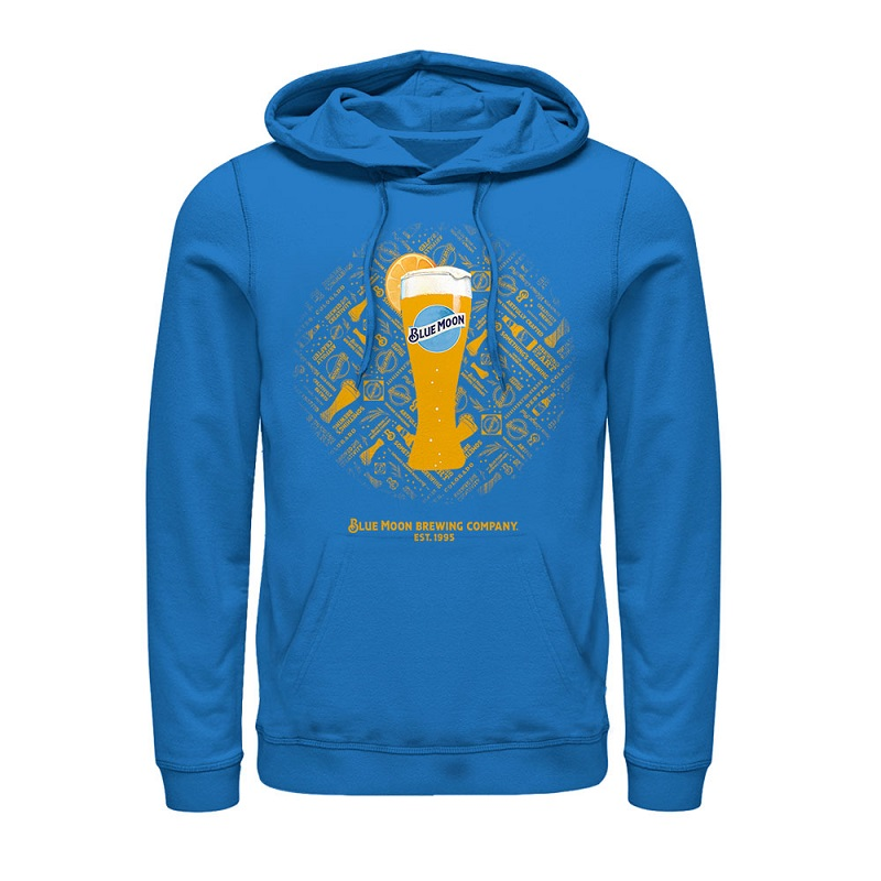 Blue Moon Tall Beer Glass Sky Blue Hoodie