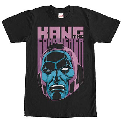 Marvel Teams Face Kang Black Mens T-Shirt