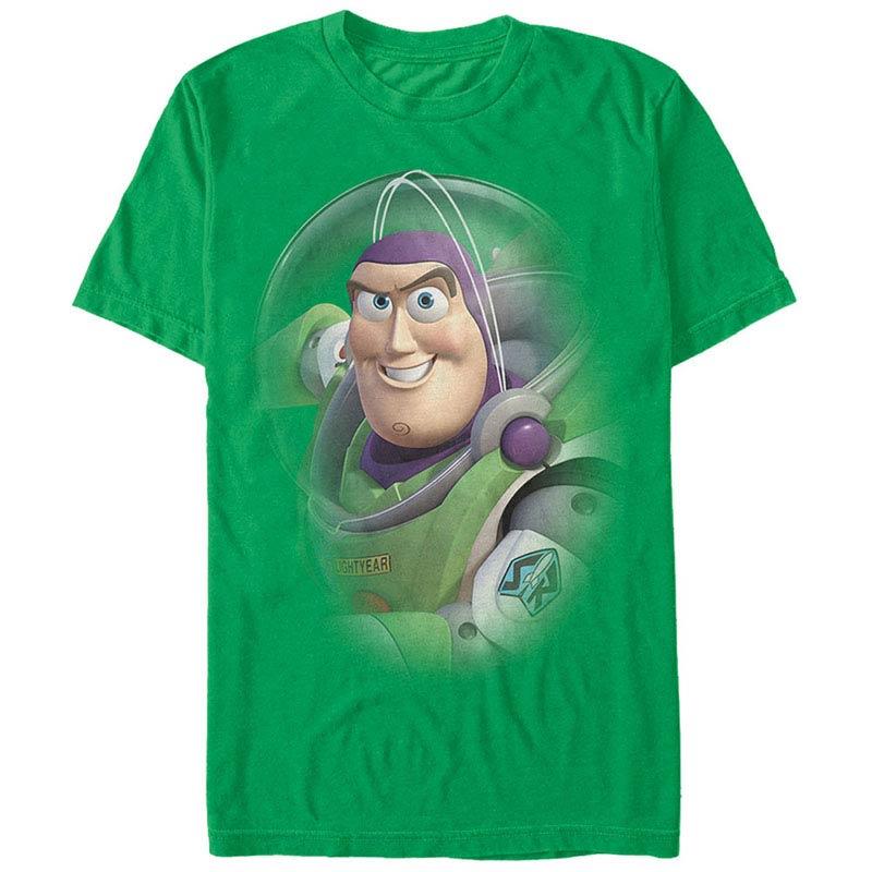 Disney Pixar Toy Story 1-3 Buzz Lightyear Green T-Shirt