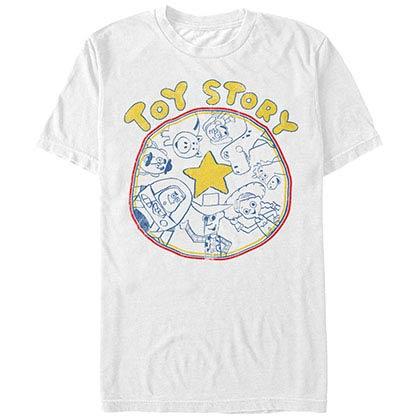 Disney Pixar Toy Story 1-3 Circle White T-Shirt