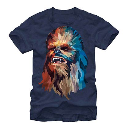 Star Wars Poly Chewy Blue T-Shirt