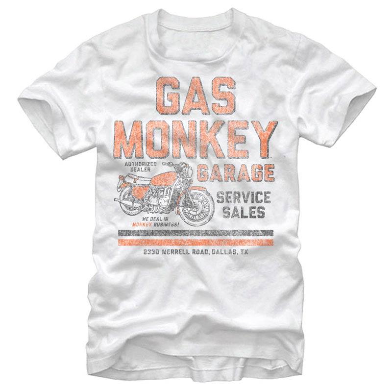 Gas Monkey Garage Authorized Dealer White T-Shirt