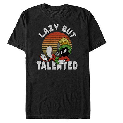 Looney Tunes Lazy Talent Black T-Shirt