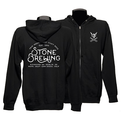 Stone Brewing True Independent Zip Hoodie