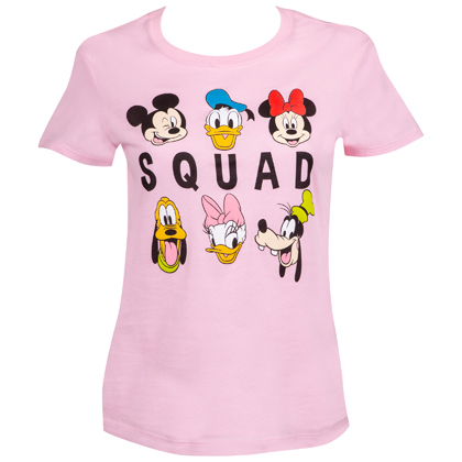 Disney Women's Pink Squad T-Shirt