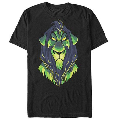 Disney Lion King Dark Scar Black T-Shirt