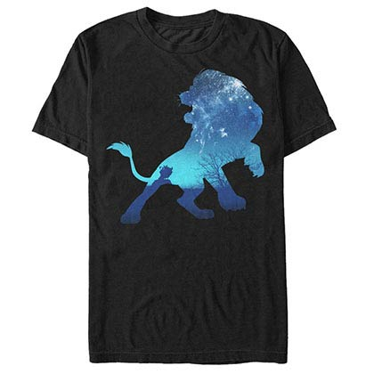 Disney Lion King Simba Sky Black T-Shirt