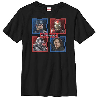 Avengers Best Friends Black Youth T-Shirt