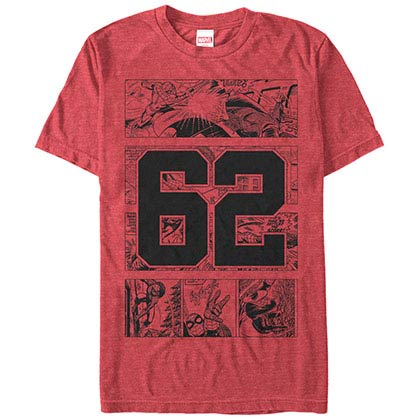 Spiderman Collegiate Red Mens T-Shirt