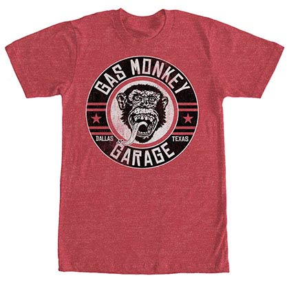 Gas Monkey Garage Ground Rider Red T-Shirt