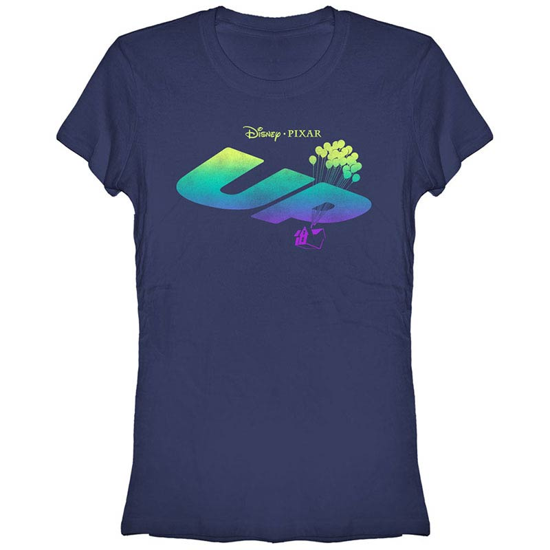 disney pixar up logo fade blue t shirt