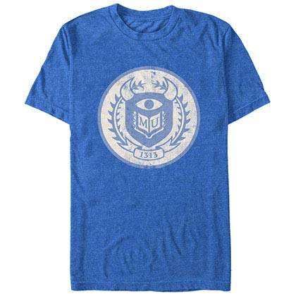 Disney Pixar Monsters Inc University University Logo Blue T-Shirt