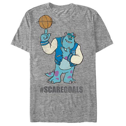Disney Pixar Monsters Inc University Scare Goals Gray T-Shirt