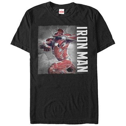 Iron Man PosterBlack Mens T-Shirt