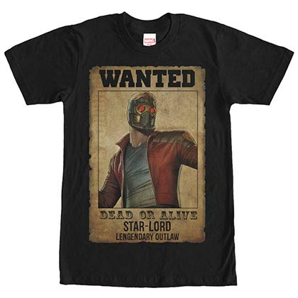 Guardians Of The Galaxy Legendary Outlaw Black Mens T-Shirt