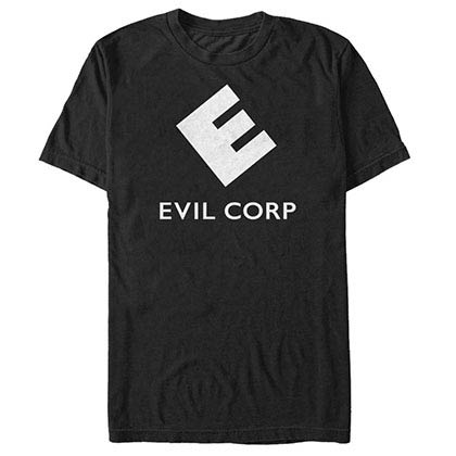 Mr. Robot Evil Logo Black T-Shirt