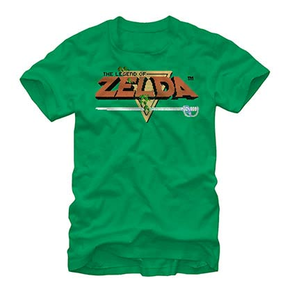 Nintendo Original Zelda Title Green T-Shirt
